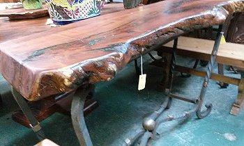 Rustic Mesquite and iron furniture