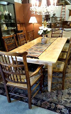 Farm tables and chairs, Interdesign, Old Henry Farm
