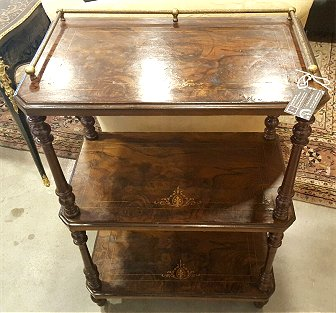 19th Century Inlaid Server - Old Henry Farm, Round Top