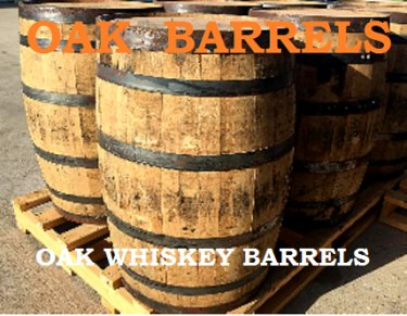 Oak whiskey barrels - Old Henry Farm Antique Show, Round Top Show
