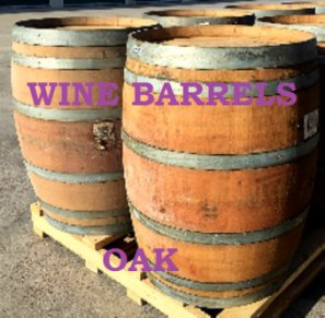 Oak wine barrells - Old Henry Farm, Round Top Antique Show