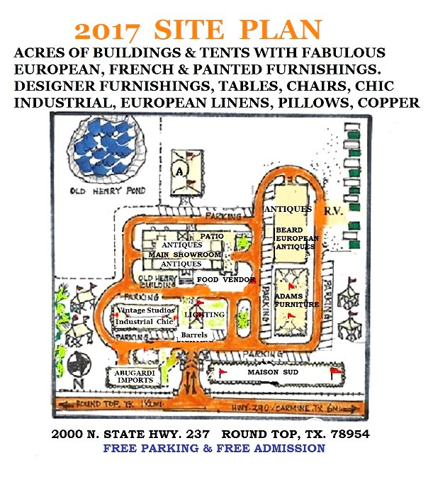 Old Henry Farm Site Plan - Round Toip Antique Show
