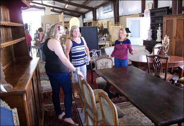 Antique Furniture at Round Top Texas Antique Fair