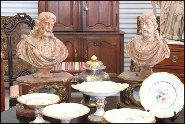 Antique Sculptures, Art, Busts